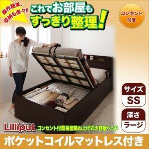 収納ベッド セミシングル【Lilliput 】【ポケット...