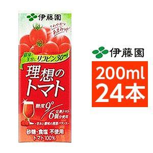 【まとめ買い】伊藤園 理想のトマト 200ml×24本...