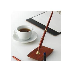 オート 木製デスクペン (黒インク) DP-1000RW 1本...