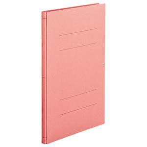 (まとめ) TANOSEE 背幅伸縮フラットファイル A4タテ 1000枚収容 背幅13〜113mm ピンク 1セット(10