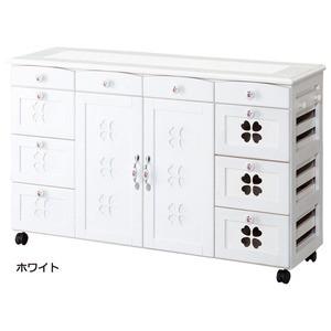 かわいいキッチンカウンター/キッチン収納 〔幅11...