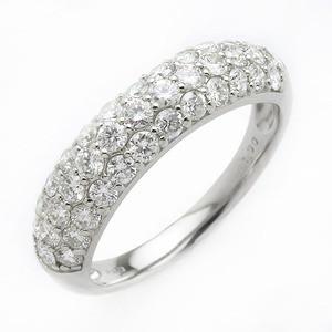 ダイヤモンド リング ハーフエタニティパヴェ 1ct...