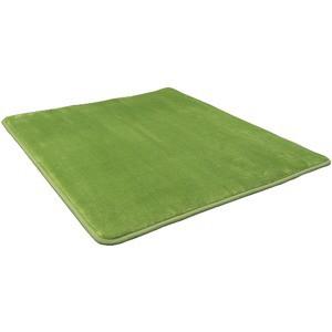 低反発 ラグ モスグリーン 緑 グリーン 極厚 140...