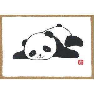 〔越前和紙〕パンダの絵ハガキ・和紙パンダ・パン...