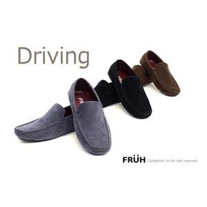 FRUH スエード調ドライビングシューズ G L4003 ブ...