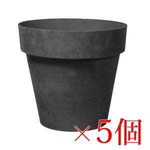 樹脂製 軽量 植木鉢 ライク ラウンド ブラック 15...