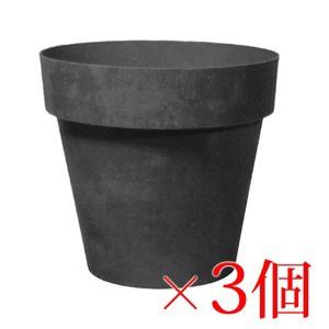 樹脂製 軽量 植木鉢 ライク ラウンド ブラック 22...