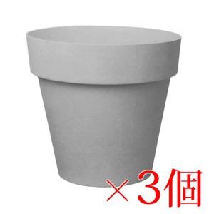 樹脂製 軽量 植木鉢 ライク ラウンド グレー 22cm...