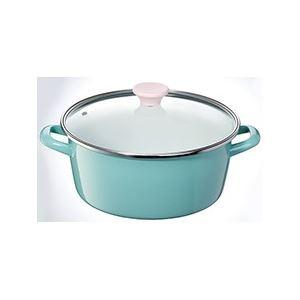 ホーロー製両手鍋/ホーロー鍋 【26cm】 容量:6.2...