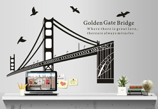 ウォールステッカー【ゴールデンゲートブリッジ】...