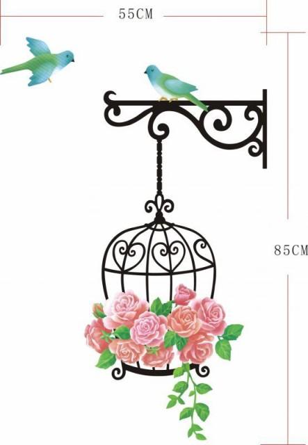 ウォールステッカー【薔薇の鳥かご】壁紙 シール ...