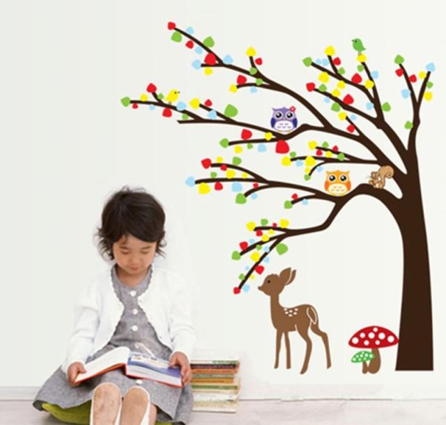 ウォールステッカー【かわいい秋】壁紙 シール 賃...