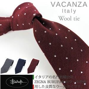 【VACANZA】小ドット ウールタイ / ウールネクタ...