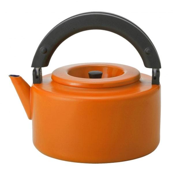 ALAW 琺瑯 フラットケトル 2.3L 茶こし付 オレン...