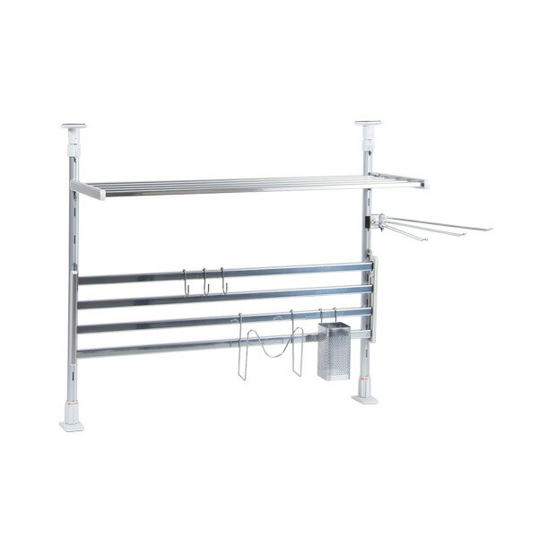キッチン収納 つっぱり棚2段 幅60cm TP2-60K【お...