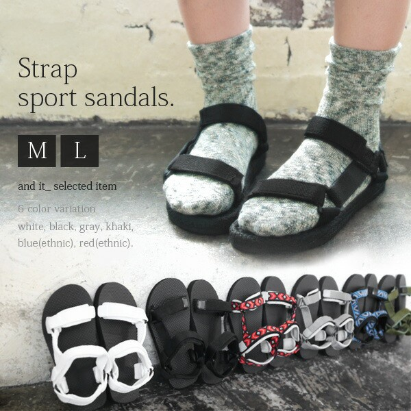 ストラップスポーツサンダル【M】【L】(レディー...