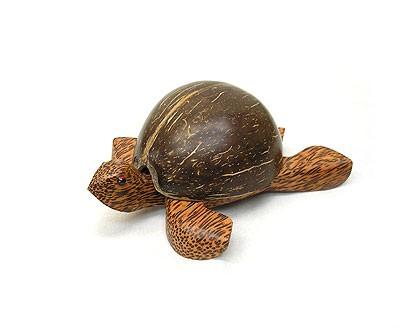 ココナッツの亀さんの灰皿 S アジアン雑貨 バリ雑...