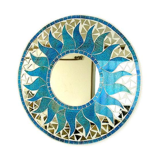 壁掛け バリモザイクミラー鏡 S [D.30cm] 丸型 ス...