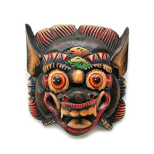 木彫りのお面 マスク 『バロン』 壁掛 Sサイ...