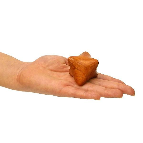 ツボ押し マッサージキューブ 木製 直径6cm 単品 ...