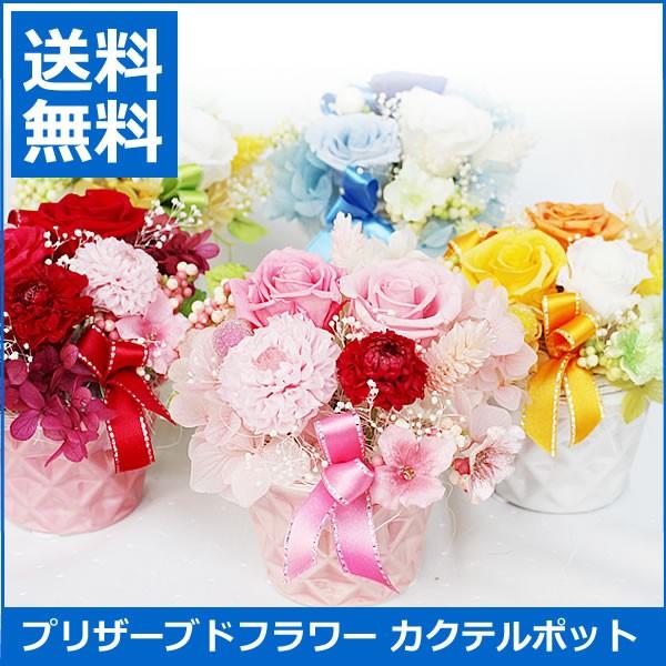 【送料無料】プリザーブドフラワー カクテルポッ...