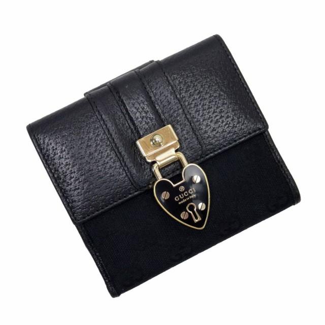 【定番人気】【中古】グッチ Wホック二つ折り財布...