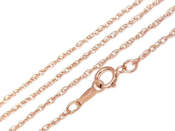 14KGF ピンクゴールドカラー ネックレス ロープチ...