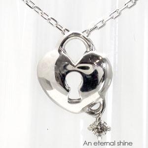 『錠前ネックレス』K10ゴールド 天然ダイヤモンド...
