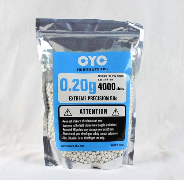 CYC精密BB弾 0.2g 4000発入(プラスチック)