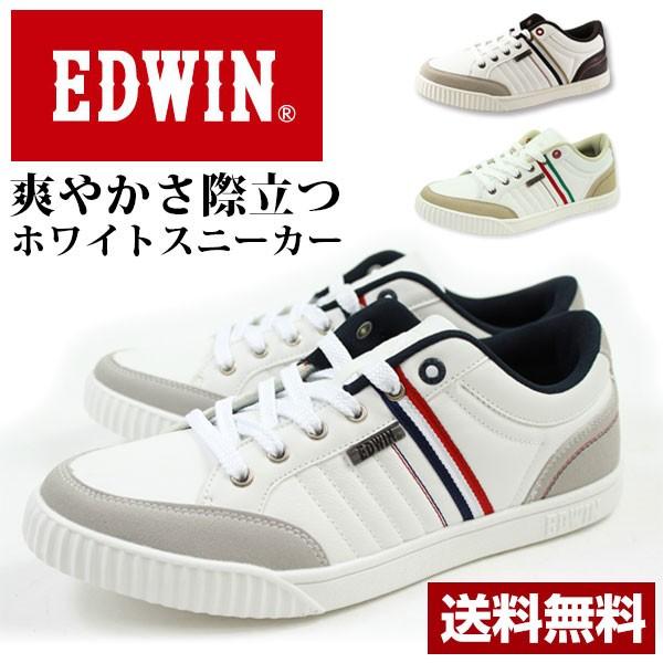 送料無料 スニーカー ローカット メンズ 靴 EDWIN...