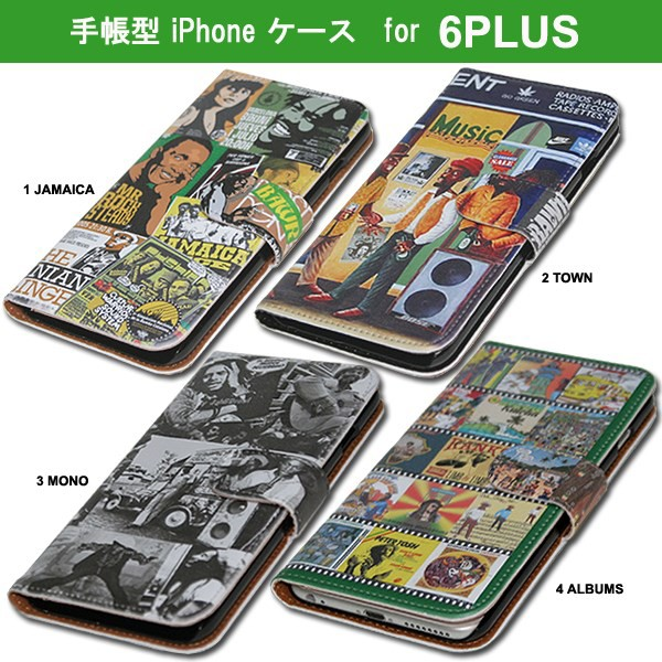 ラスタMAN  iPhone6PLUS/iPhone6sPLUS BOOK型ケ...