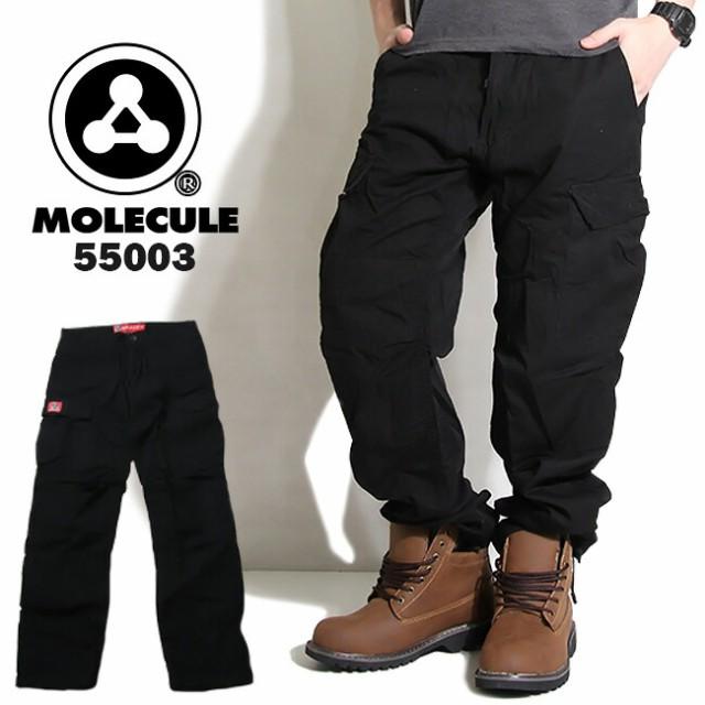 MOLECULE 6ポケット ミリタリーカーゴパンツ 黒 ...