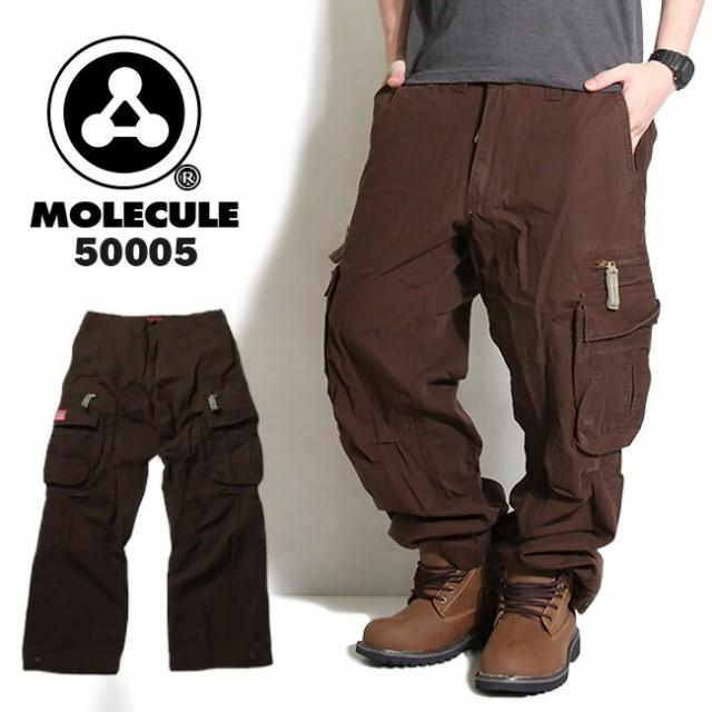 MOLECULE 6ポケット ミリタリーカーゴパンツ ブラ...