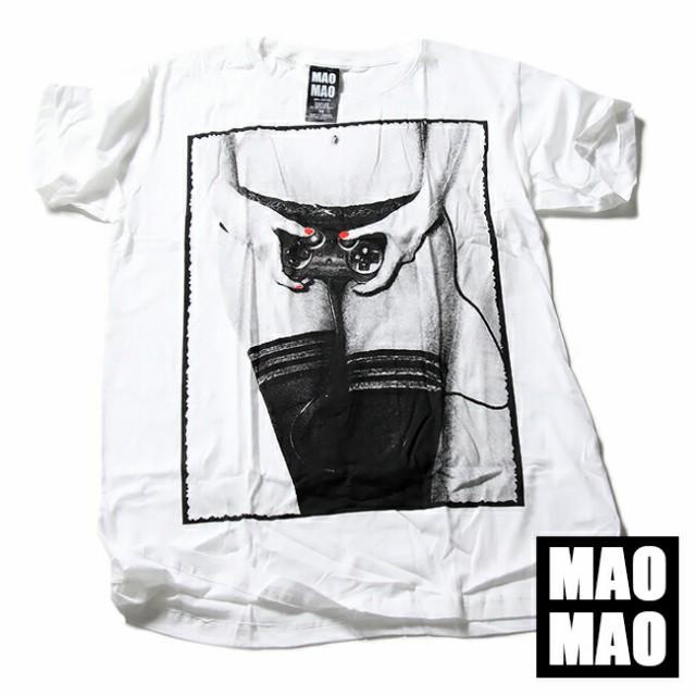 MAOMAO デザインTシャツ ロンリーガール メッシュ...