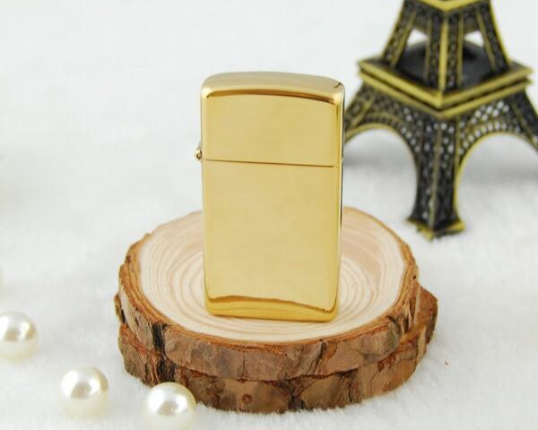 ジッポー ZIPPO ライター 真鍮モデル スリム Soli...