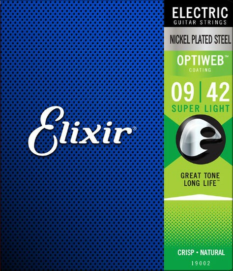 Elixir 19002 Super Light(.009-.042)Optiweb エ...