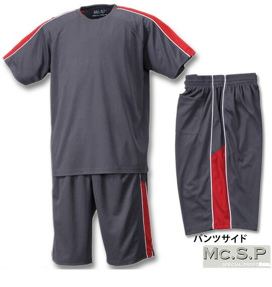 大きいサイズ Mc.S.P 吸汗速乾半袖Tシャツ+ハーフ...