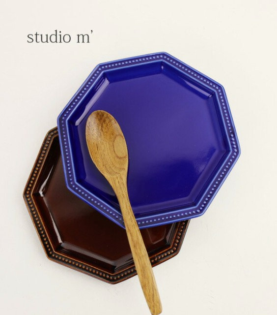 studio m'(スタジオエム)半磁器 角皿 取り皿 プチ...