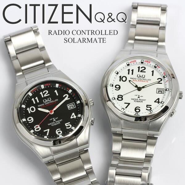 CITIZEN シチズンCBM Q&Q 電波ソーラー腕時計 メ...