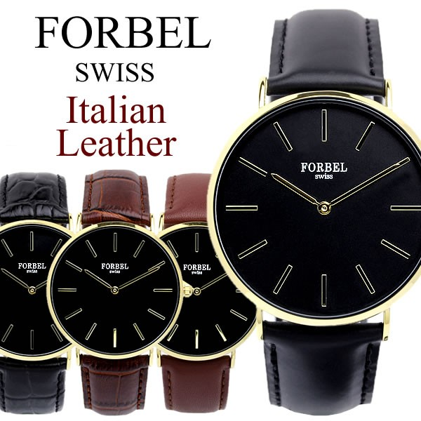 FORBEL フォーベル メンズ 腕時計 イタリアンレザ...
