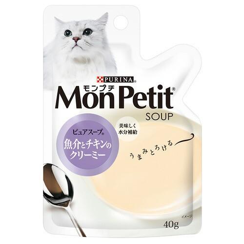 モンプチ スープ 魚介とチキンのクリーミー 4...