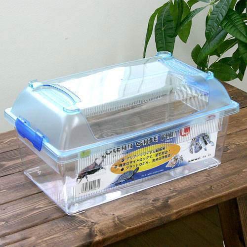 三晃商会 SANKO CLEAN CASE FLAT クリーンケースフラット(L)(375×220×184mm)プラケース 虫か