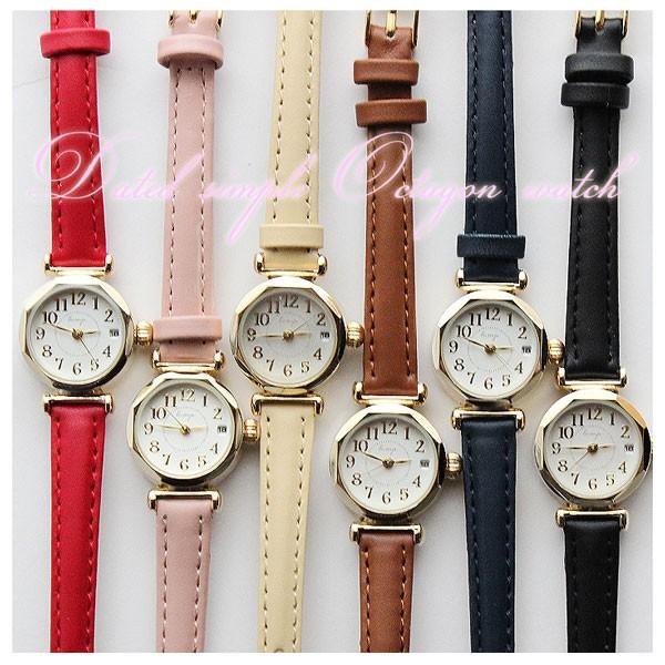 tokima 日付付き シンプル Octagon 腕時計 = メ...