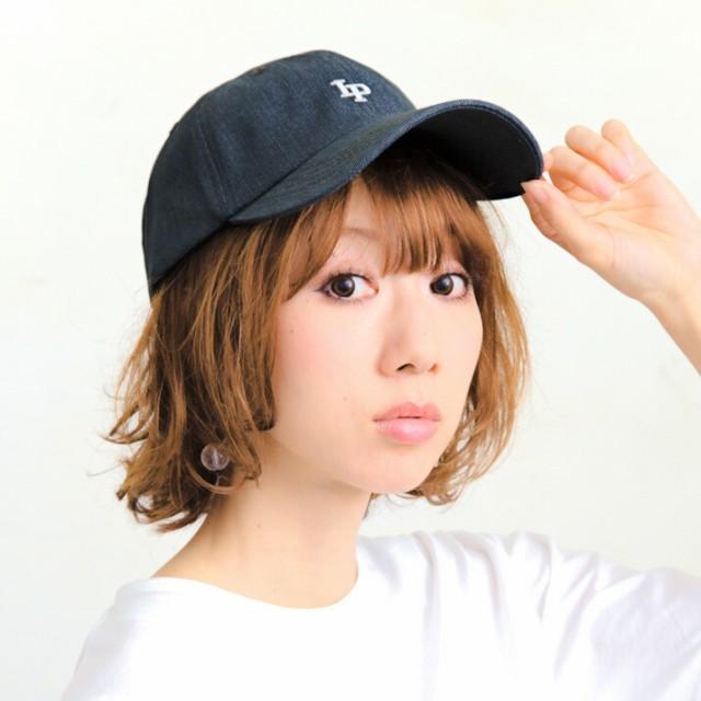 2個1000円引き/帽子/IP刺繍デニムキャップ/メンズ...