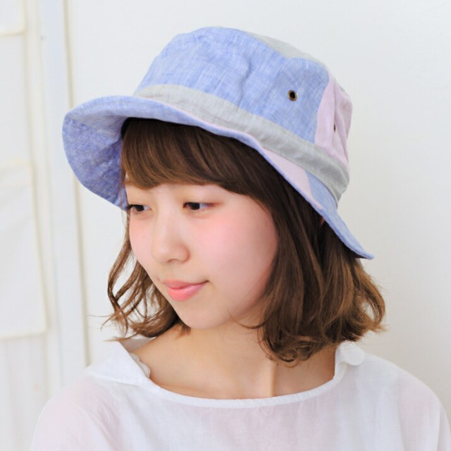 セール/帽子/2個1000円引き/シンプル無地リネンの...