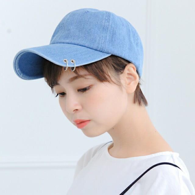 セール/2個1000円引き/帽子/リング付きデニムキャ...