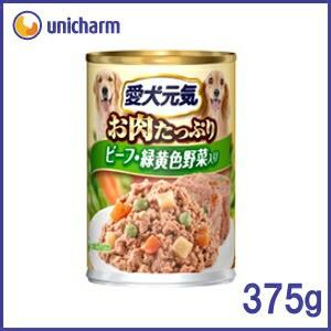 ▼愛犬元気 缶 ビーフ&緑黄色野菜入り 375g[...