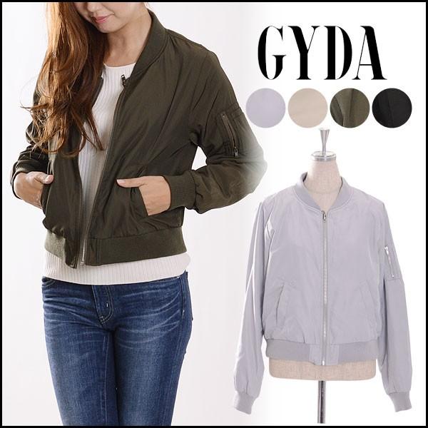 ジェイダ GYDA シンプルMA-1ブルゾン レディース ...
