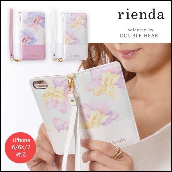 rienda リエンダ Rosey Flower Print iphone7手帳...