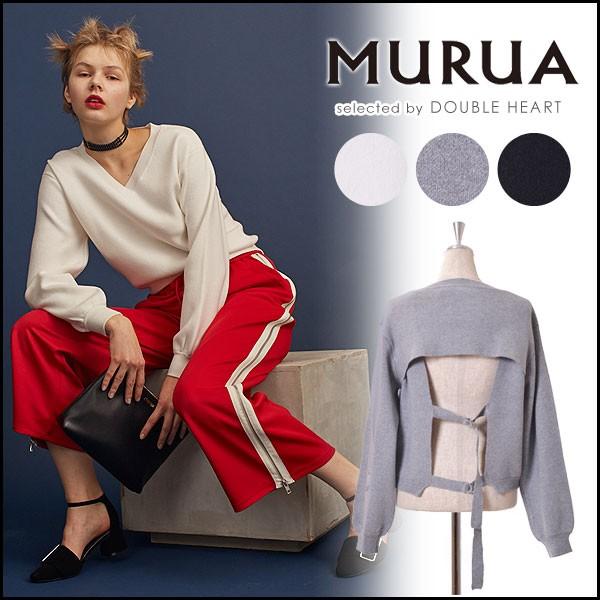 MURUA ムルーア バックベルトニット レディース ...